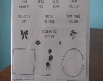 NEW Pretty Thankful Stampin' Up! retired photopolymer stamp set (16)