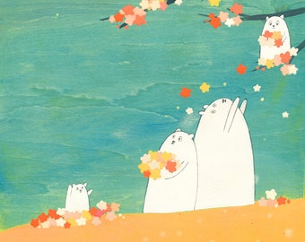 Musikaru Blossom Harvest- Signed Art Print