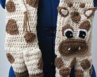 Crochet Pattern - Giraffe Scarf Crochet Pattern - Giraffe Pattern - Scarf Pattern - Animal Scarf Pattern -  PDF, Digital Download