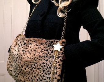 Leopard Print Faux Fur Muff