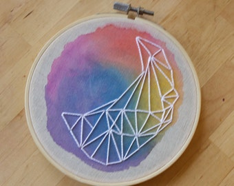 "5.5"" Hoop Art, Watercolor Embroidery 008"
