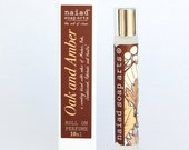 Oak and Amber Roll on Perfume - vegan friendly scent in coconut oil - 97% natural