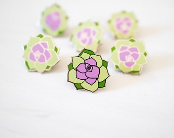 Succulent pin - enamel pin - lapel pin - cactus pin - plant pin - succulent gift - enamel jewellery - cactus gift - pin game - flair game