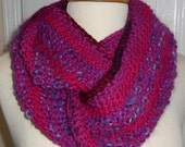 CLEARANCE Moebius Knit Scarf The Pinks and Purple