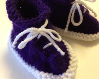 Purple and White Tennis Booties