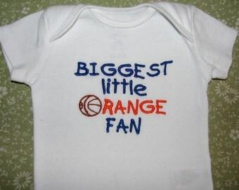 Biggest Little Sports Fan Personalized Bodysuit.  Great Gift Idea.