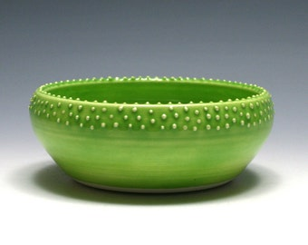 Small Lime Green Dotted Bowl