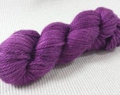 NEW Hand Dyed Mini Skein Merino Silk Fingering Weight 1 ounce 122 yards - Violent Violet Semi Solid get in on mini skein madness! VV2
