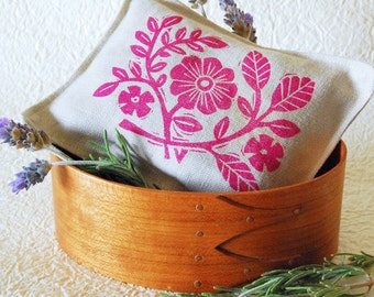 Organic Lavender Sachet -Pink Floral