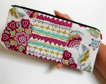 Large Zipper Pouch ECO Friendly Padded Double Retro Rhapsody NEW
