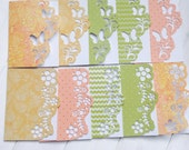 10 Cut Out Mini Cards Butterflies Flowers Gift Cards Thank You Cards