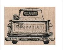 rubber stamp Pickup Truck transportation  number 16895 stamps stamping car van