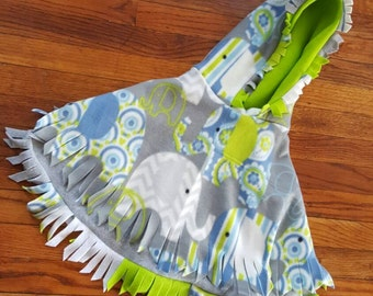 Elephants on Parade double layered Fleece Toddler Poncho by IM.BUTTERFLYCREATIONS Sz 2-4 yrs