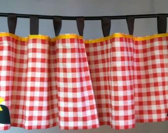 Sunflower kitchen tab valances