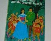 Vintage Snow White and the Seven Dwarfs, Wonder Book, 1975