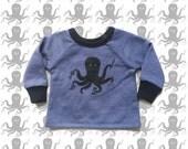 Crafty Octopus kids sweatshirt Supayana Ready to Ship