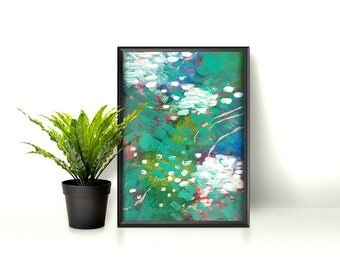 Nenuphar - abstract - originale - abstract paint - wall art