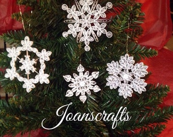 Quilling, Snowflake Ornament Collection Combo