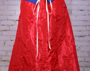 Intense Red Swagger Skirt-Adjustable and Versatile