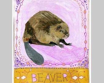 Animal Totem Print - Beaver