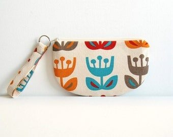 Zipper Pouch with Keyring, Coin Purse, Change Pouch, Makeup Bag, Women and Teens, Gift For Her, Outside Oslo