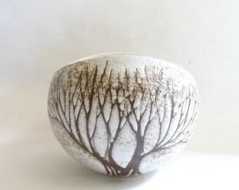 SUMMER SALE 1970s Ceramic Tree Bowl Vase Anderson Studios