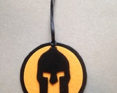 Spartan Race Kids Orange Spartan holiday ornament