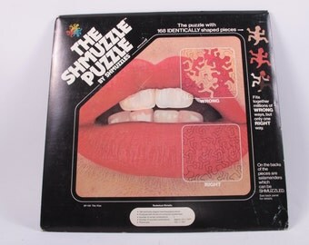 Smuzzle Puzzle - Lips - Vintage and Unused