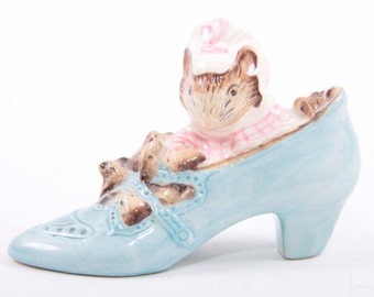 Beatrix Potter Old Woman Lived in Shoe Royal Albert Wayne Co VTG 1989 ~ The Pink Room ~ 170112