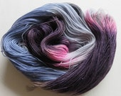 Hand Painted 2-Ply Superwash Merino Nylon and Silver Sparkle Sock Fingering Yarn -- Queen of the Nobodies and Nobodies
