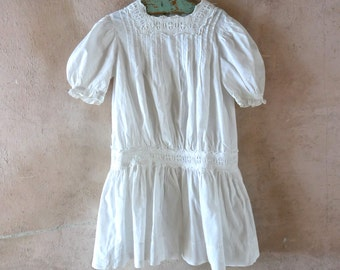 Antique Girl's Drop Waist Dress 3 Year Old