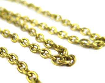 Vintage Rambling Rose Production Line From Avon Brass Cable Chain (CP243)