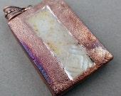 Stamped Raku Pendant