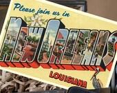 Vintage Large Letter Postcard Save the Date (New Orleans, LA) - Design Fee