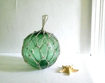 Large Vintage Green Glass Fishing Float