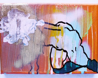 Make Me Feel 7x4 acrylic painting