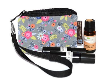 Small Essential Oil Bag - Essential Oil Pouch - Small Bag - Oil Pouch - Fast Shipping - Dutch Floral Fabric