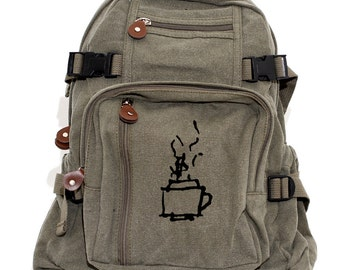 Backpack, Coffee Mug, Tea Cup, Canvas Backpack, Camera Bag, Laptop Backpack, Zen, Rucksack, Small Lightweight Bag, Women's Backpack
