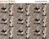 Japanese Fabric - P is for Panda - taupe grey - 50cm