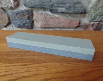 "New 8"" Aluminum Oxide Sharpening Stone 2 Sided Whetstone Cutting Tool Sharpener"