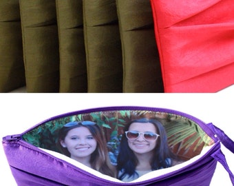 6 Custom Photo Clutches With Your Favorite Pictures- Bulk Bridesmaids Photo Gift