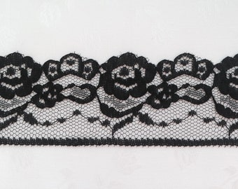 "Black lace 1-3/4"" wide - 30 yards"