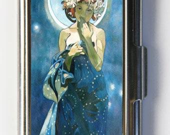 Art Nouveau Moon Light Mucha Business Card Holder Card Case