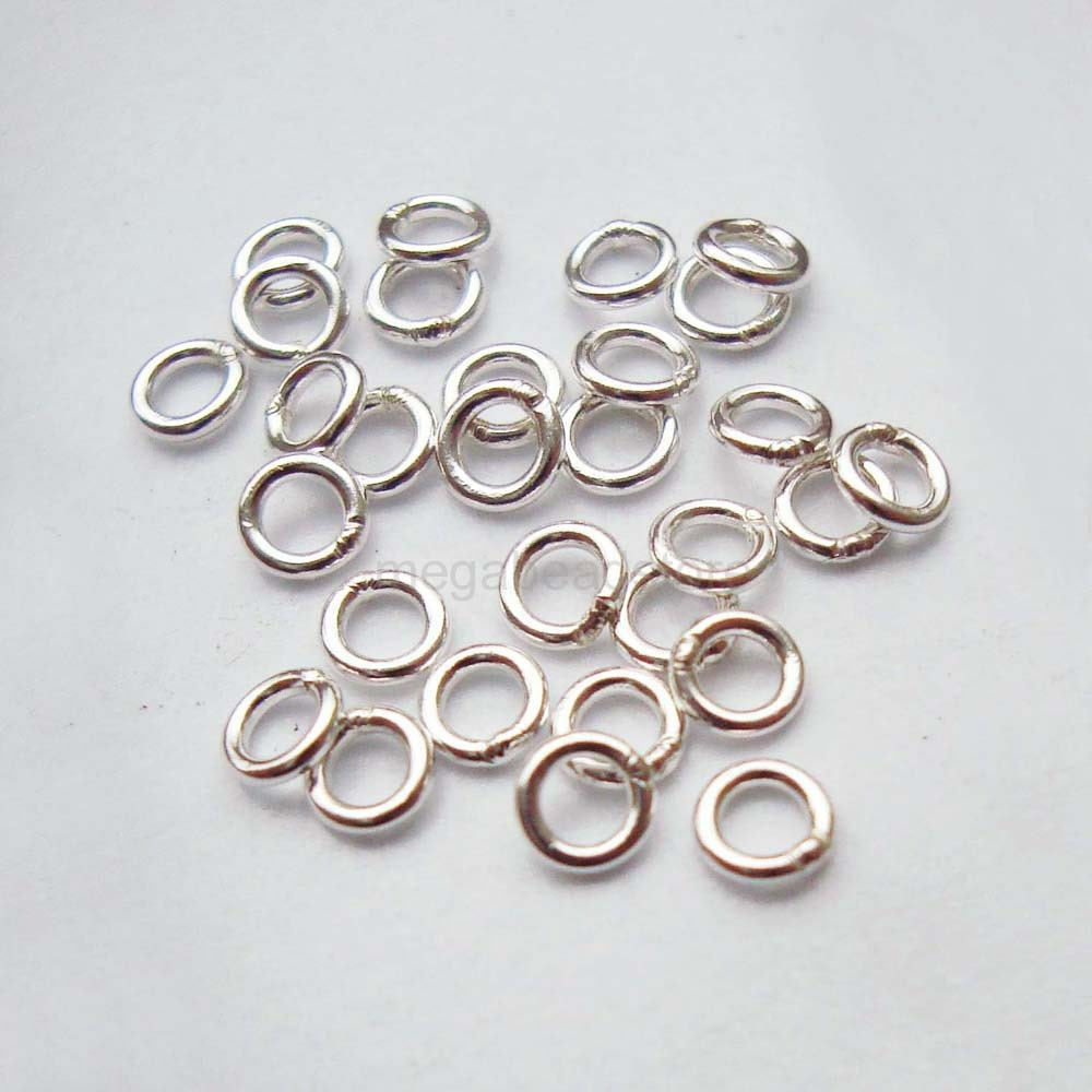 100 pcs 3mm closed soldered jump rings 925 sterling silver