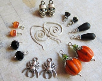 Sihaya Designs Earring Wardrobe - The Great Pumpkin - Autumn and Halloween Mix and Match Earring Set