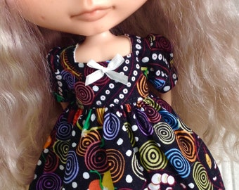 Dress for Blythe - Aboriginal Print