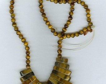 CLEARANCE Tigers Eye Mini Cleopatra Collar Fan Graduated 13pc Bead Set with 4mm beads