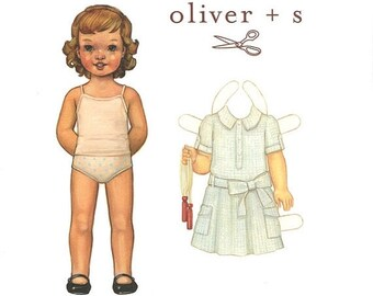 BIG SALE Sizes 6 mo to 3T Jump Rope Dress Sewing Pattern by Oliver + S