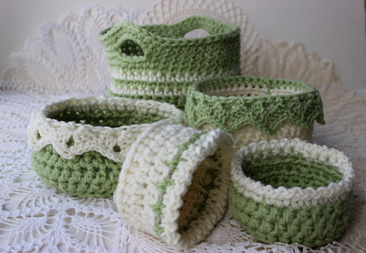Crochet basket patterns 6 sizes ebook drop over lace edge zoom bankloansurffo Image collections