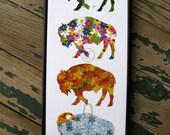 Framed Buffalo Print - City for All Seasons Canvas Print -  Buffalo Four Seasons Print - Buffalo Art Work - Buffalo Gift